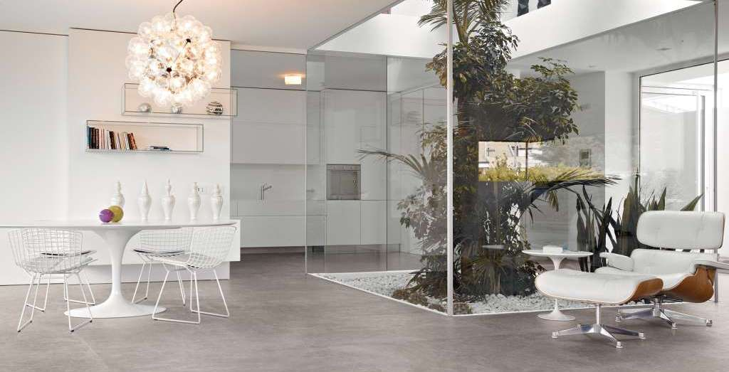 Erica Ceramiche on square 60x120 cemento nat amb living