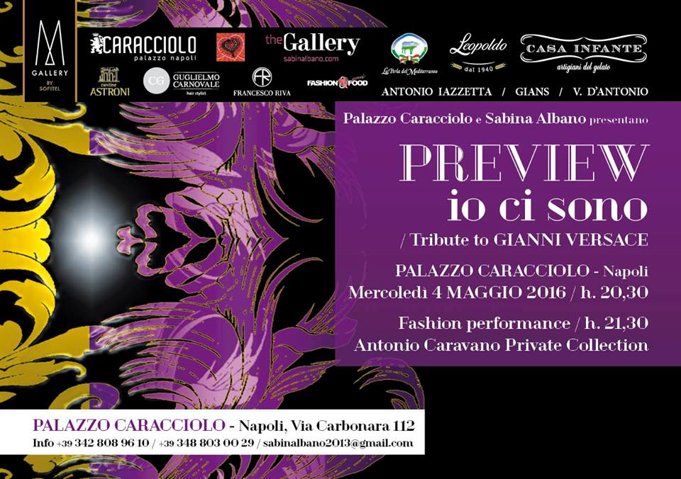 PREVIEW io ci sono Tribute to GIANNI VERSACE